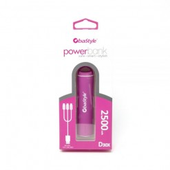 POWER BANK 2500mAh ROSA CON...